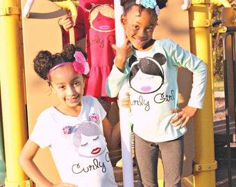 Curly Girl Attire: Dresses, T-shirts, Sweatshirts, Hoodies, Longsleeves