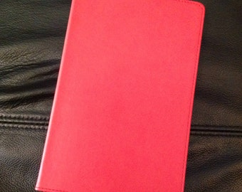 Martha Stewart Home Office Red Smooth Finish Journal Notebook Planner  A5 Size