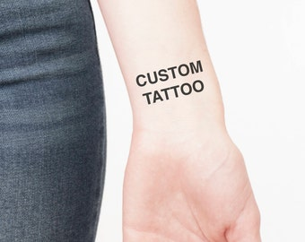 Custom Temporary Tattoo - Temporary Tattoo Custom - Custom Temporary Tattoos - Custom Tattoo