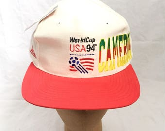 vintage cameroon world cup apex one snapback hat deadstock NWT adult OSFA 1994
