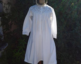 Reserved , Gown, French Vintage,  France , Antique Clothes, French Embroidery, Wedding Dress, Bridal , Vintage Wedding, Trousseau Bride
