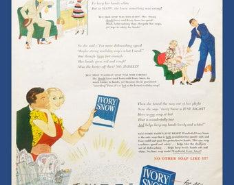 Kitchen Wall Art - Ivory Dish Soap Magazine Ad - Vintage