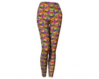 Disco Leggings - FREE SHIPPING to USA vintage vibes 1970s 70s print pattern psychedelic funky workout women fitness spandex tights yoga