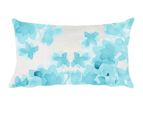 Throw Pillow For Nursery : Aqua Nursery Pillow 12x20 Aqua Throw Pillow Aqua Floral
