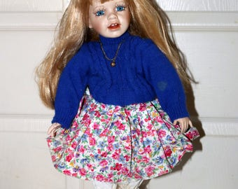 Kariss by Gretchen M Wolff Doll - Porcelain Doll - Wimbeldon Series - No Box or COA - 176/600 - Girl with Broken Leg in Cast