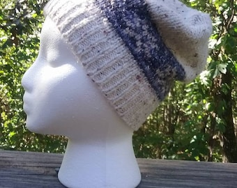 Winter Hat, Recycled Sweater Hat, Toboggan Cap, Upcycled Beanie, Knit Beanie, Slouchy Beanie, Unisex Hat, Eco Friendly Accessories, Cozy Hat