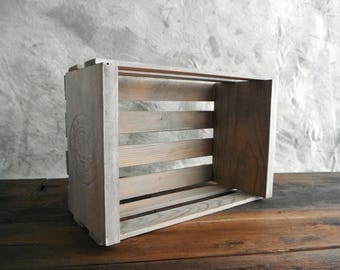 Napa Valley Box Crate (re)Designed in Gray Wash