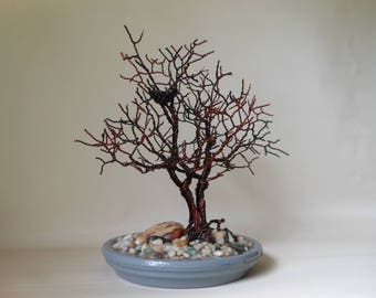 Wire Tree Sculpture,Tree of Life,Wire Art,Wire Trees,Wire Sculpture,Metal Tree Sculpture,Bonsai Wire Trees,Copper Wire Trees,Wire Bonsai,