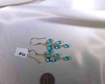 Apatite briolette gold filled earrings item 900