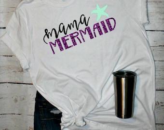 Mermaid Mom Shirt, Mermaid Mommy, Mama Mermaid, Mermaid Mom, Mermom, Mermaid Shirt, Mommy and Me, Mermaid tail, Mermaid Party, Mermama,