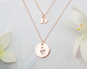 Mother daughter necklace etsy personalized mother daughter necklaces choose rose gold silver or gold dainty mother daughter aloadofball Image collections