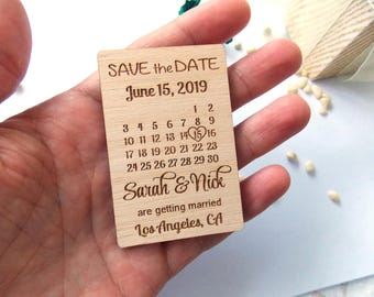 Calendar Save the Date magnets, Save the date cards, Save the date wedding magnets, rustic save the date, fridge magnet save the date