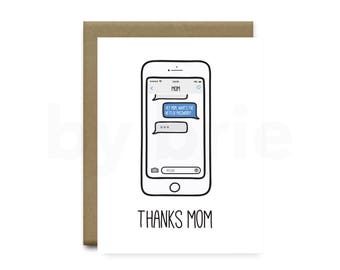 Mother's Day Card, Mothers Day Card Funny, Mothers Day Card, Mothers Day Gift, Funny Mothers Day Card, Mothers Day Card Unique, Handmade