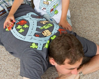 Gift ideas for dads etsy road play mat l kids play mat toy car mat funny matching negle Images
