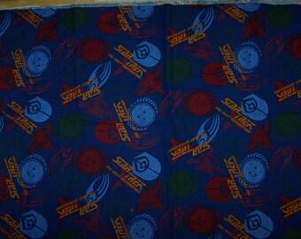 Rare Star Trek The Next Generation Fabric Material - Star Trek Logo - Klingon - Space Federation - Enterprise - Picard-  Sewing Supplies