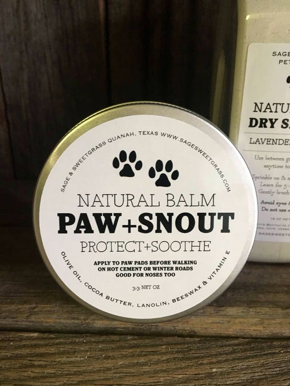 PAW + SNOUT BALM {Protect Your Best Friend's Paws & Snout this Winter, Natural Ingredients}