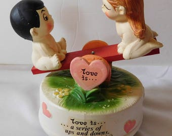 1972 LOVE IS... by Kim Music Box seesaw
