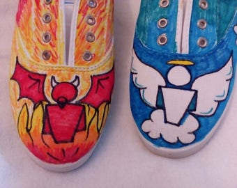 Good and Evil Tennis Shoes