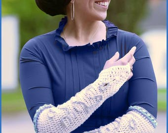 DIGITAL DOWNLOAD: PDF Crochet Pattern for the Princess Costume Gloves