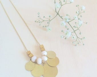 Necklace bohemian poetic fine made in france