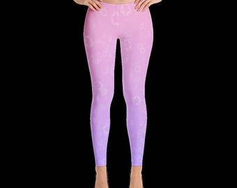 Magical Girl Starry Leggings (Pink/Lavender)