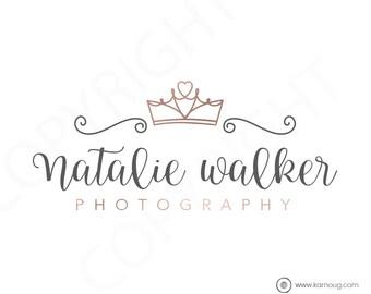 Crown Logo Heart Logo Boutique Photography Logo Premade Logo Watermark Logo Business Logo Branding Logo Custom Logo Logos and Watermarks