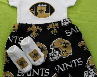 Infant Boys New Orleans Saints 3pc bodysuit set