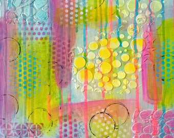 Mixed Media Textured Art Ready to Hang