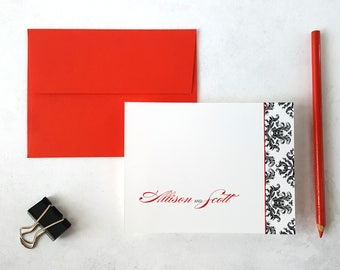 Personalized Gifts | Wedding Gift | Thank You Cards | DAMASK | Personalized Wedding Stationery | Couples Stationary Gift