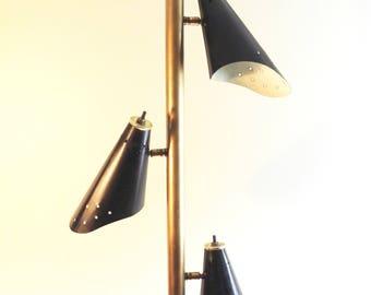 Vintage Mid Century Pole Tension Lamp