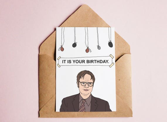 The Office Birthday Card Tv Show Cards Printable It Is Your