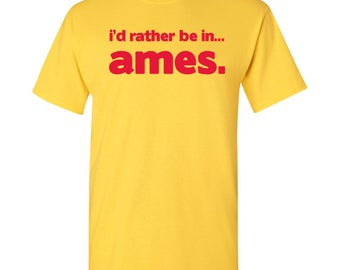 I'd Rather Be In...Ames T Shirt - Daisy Yellow