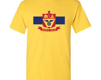 St. Paul City Flag T Shirt - Daisy Yellow