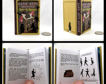 DARK ARTS DEFENSE 1:3 Scale Readable Book Patronus Charm Polyjuice Potion Harry Potter Book 18 inch American Girl Doll 1/3 Scale
