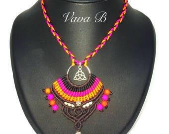 Necklace macrame - c 0206 REF.