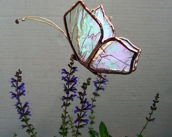 Stained Glass Butterfly Suncatcher, Feng Shui, Home Decor, Colored Glass Butterflies, Gift, Garden Art, Hanging Sun Catcher, Insect