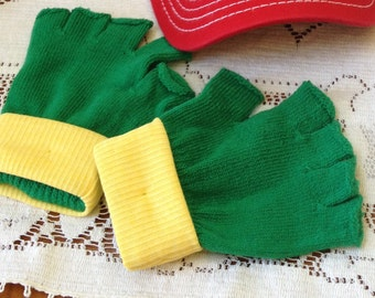 KIDS Gloves  - PokemonTrainer Costume - ASH KETCHUM  -  Cosplay Anime