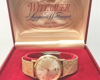 Wittnauer watch etsy vintage mens 1970s wittnauer watch 14k watch case sciox Choice Image