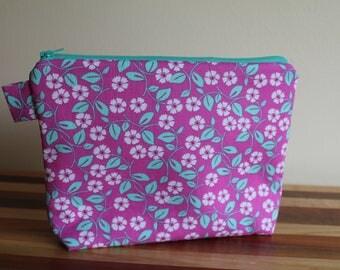 Medium Floral Zip Bag