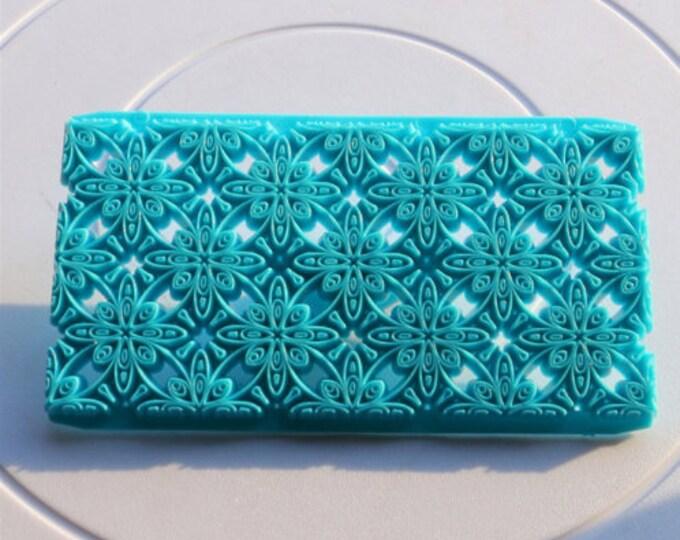 Floral Scroll Fondant Embosser Cake Cookie Cutter Imprint Set - E833