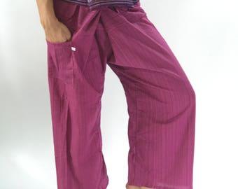 TCP0041 purple Fisherman pant thai yoga pant pants men's Fashion fit for all