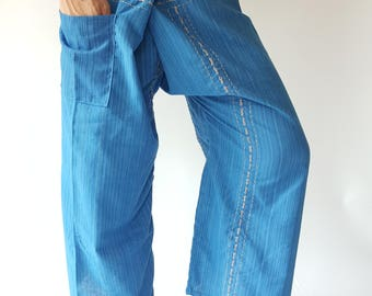 TC8052 Thai Fishermsn Pants Wide Leg pants, Wrap pants, Unisex pants, Thai Fisherman Pants, TC Fabric