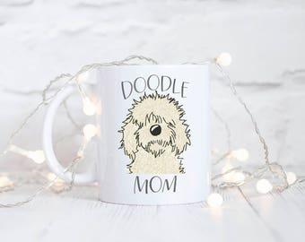 Doodle Mom Mug - Dog Mom Gift - Fur Mom - Golden Doodle Mom - Labradoodle Mug - I love my Golden Doodle - Love my Doodle - Gifts Under 15