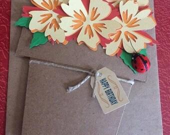 Happy Birthday Flowerpot Greeting Card