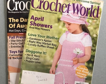 Lot of 2 Crochet World Magazines, April & August 2009