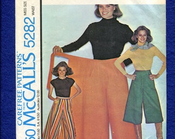 1970's McCall's 5282 Wrap Gauchos Pattern Size SMALL 10/12 UNCUT
