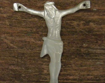 Antique corpus in mother of pearl  real folk art