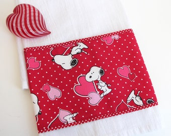 Peanuts Snoopy Hearts Hand Towel Tea Towel