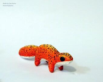 Leopard Gecko Totem Figurine Fantasy Eublepharis Eclipse Lizard Totembykarhu