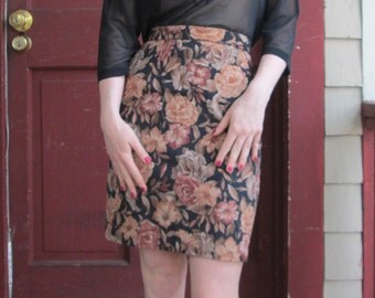 soft floral pencil skirt - 24""
